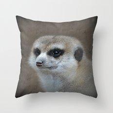Erdmännchen  Throw Pillow