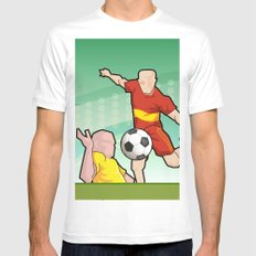 Soccer game Mens Fitted Tee White SMALL