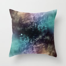 Polychrome Moon Throw Pillow
