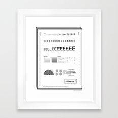 Tipómetro . (Spanish) Framed Art Print