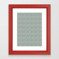 Kitchen Story Pattern Framed Art Print