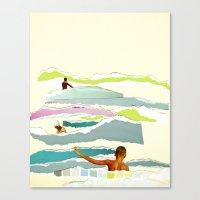 Sun and Surf Canvas Print