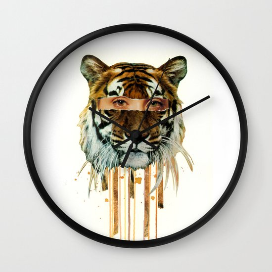 Eye of the Tiger Wall Clock