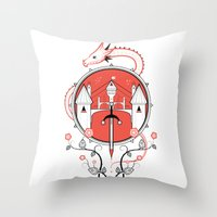 A Legend Of Blood Throw Pillow