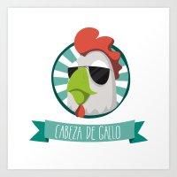Cabeza de Gallo Art Print