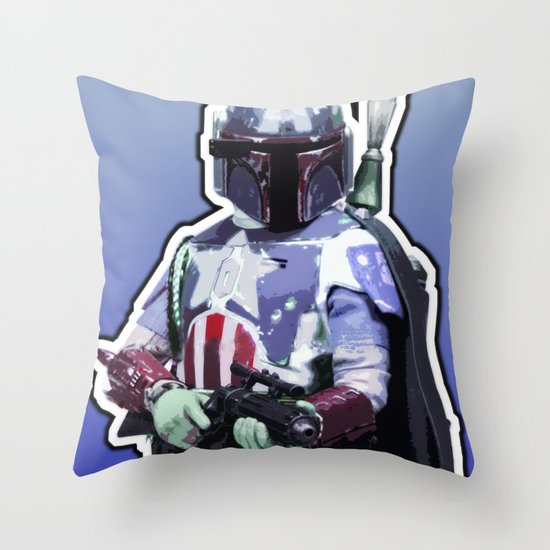 Captain Fett Throw Pillow