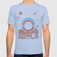 Orange Space Mens Fitted Tee Athletic Blue SMALL
