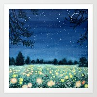 Dance Of The Fairies And… Art Print