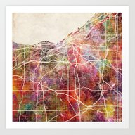 Art Print featuring Cleveland by MapMapMaps.Watercolo…