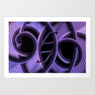 Abstract Purple Geometry Art Print