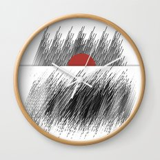 Rising sun Wall Clock