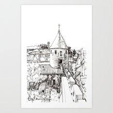 garden tower Art Print