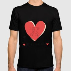 I Love You Like A Love Song  Mens Fitted Tee Black SMALL