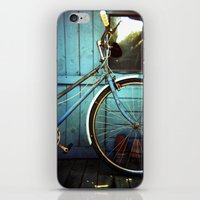 Bluebell The Blue Bicycl… iPhone & iPod Skin