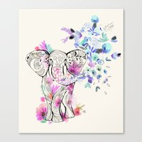 Playful Elephant Canvas Print