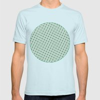 Mint Leaf Pattern Mens Fitted Tee Light Blue SMALL