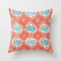 Nordic Heart Throw Pillow