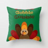 Gobble Me Up! Throw Pillow