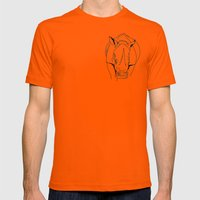 ratataxes Mens Fitted Tee Orange SMALL