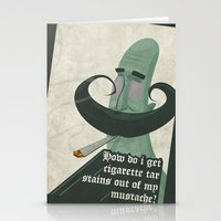Tar mustache Stationery Cards
