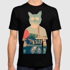 Cool Cat Mens Fitted Tee Black SMALL