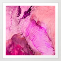 Watercolor Abstract - Pi… Art Print