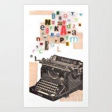 Paperback Writer Art Print
