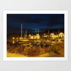 Port At Night Art Print