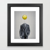 Mr. Smiley :) Framed Art Print