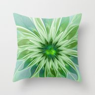 Floral Beauty, Abstract … Throw Pillow