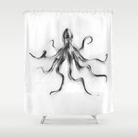 King Octopus Shower Curtain