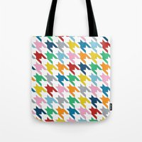 Houndstooth Colour Tote Bag