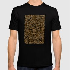 book looks like a face Black SMALL Mens Fitted Tee