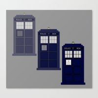 The Materializing TARDIS Canvas Print