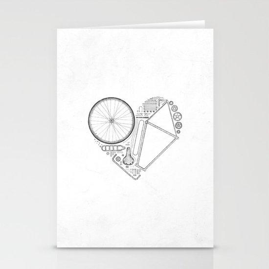 Love Bike (Grey) Stationery Card