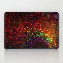 Fascination in gold-photograph of colorful lights iPad Case