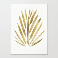 Gold Palm Canvas Print