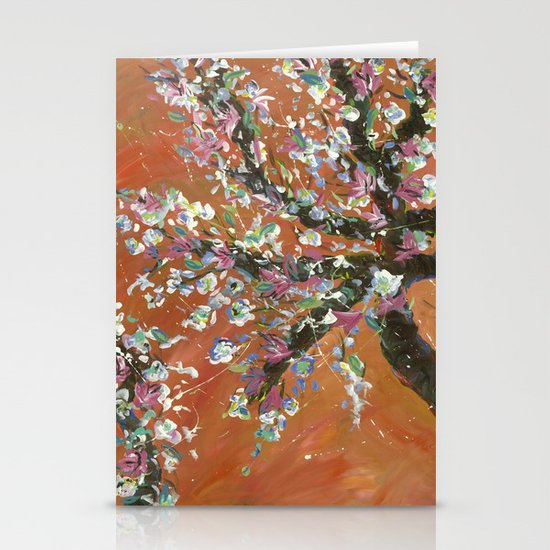 Cherry Tree Stationery Card