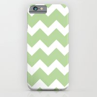iPhone & iPod Case featuring Chevron - Mint by Valerie Hoffmann