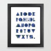 Letterpress Alphabet Framed Art Print