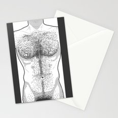 Hairy Torso - White Stationery Cards