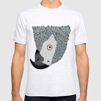 African Grey Parrot Mens Fitted Tee Ash Grey SMALL