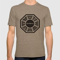 Dharma Initiative Mens Fitted Tee Tri-Coffee SMALL