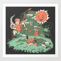 Tommy Tentacles Stole Betty Lou's Heart Art Print