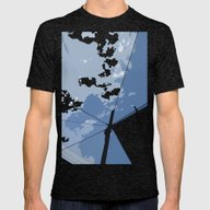 Bird On A Wire Mens Fitted Tee Tri-Black SMALL