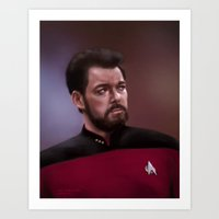 Star Trek: Riker Art Print