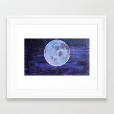 I See The Moon (And The Moon Sees Me) Framed Art Print
