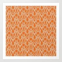 Lluvia Naranja Art Print