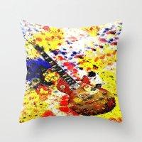 Les Paul Retro Abstract Throw Pillow