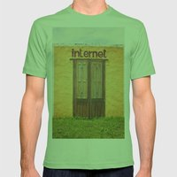 Internet Mens Fitted Tee Grass SMALL
